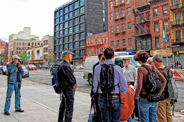 May 18, 2014 Bowery walking tour for the Lower East Side Preservation Initiative (L.E.S.P.I.)