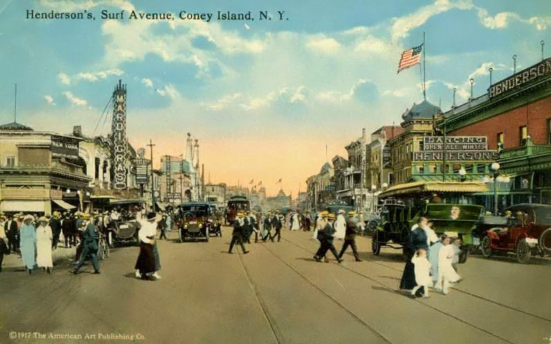 Henderson's, Surf Avenue, Coney Island, Brooklyn 1917